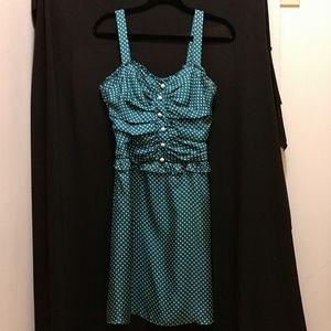 Betsey Johnson silk polka dot dress